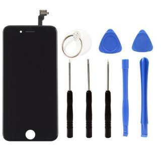 Iphone 5C LCD A++ Display schwarz Touchscreen Glas Retina Digitizer Komplett set + 8in1 Öffner Kit