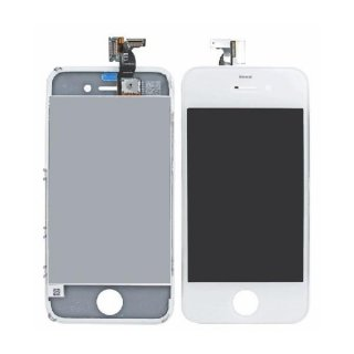 Iphone 4S LCD Display mit Touchscreen / Digitizer Frontscheibe Weiss A++Version + 8in1 Öffner Kit
