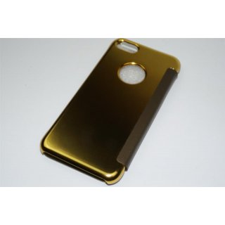 Iphone 7 4,7 LED View Flip Case Tasche Gold Cover Schutzhülle