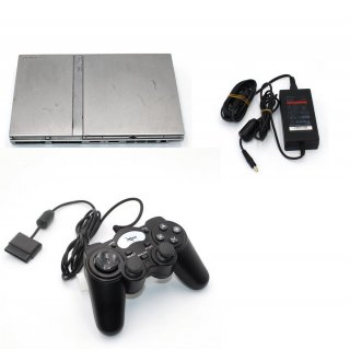 Sony Ps2 Slim Silber Playstation 2 Konsole SCPH 77004 gebraucht mit Controller