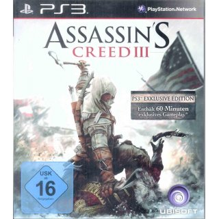 Assassins Creed 3 - Bonus Edition (100% uncut)  - PS3 Spiel PlayStation 3